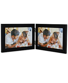 "Black Hinged Double Metal Picture Frame - 6"" x 4"""