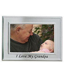 """Brushed Metal I Love My Grandpa Picture Frame - Sentiments Collection - 4"""" x 6"""""""