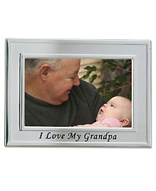 """Lawrence Frames Brushed Metal I Love My Grandpa Picture Frame - Sentiments Collection - 4"""" x 6"""""""