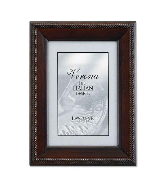 "Lawrence Frames Walnut Wood Picture Frame - Tuxedo - 4"" x 6"""