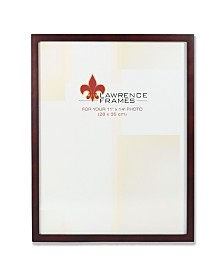 "Lawrence Frames 755911 Espresso Wood Picture Frame - 11"" x 14"""