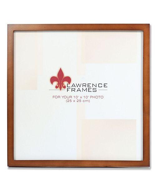 "Lawrence Frames 766010 Nutmeg Wood Picture Frame - 10"" x 10"""