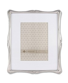 "710280 Silver Metal Romance 8x10 Matted For Picture Frame - 5"" x 7"""