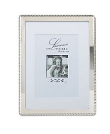 "Lawrence Frames Silver Metal Picture Frame with Delicate Outer Border Of Beads - 8"" x 10"""