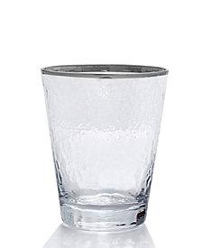 Qualia Glass Mirage Platinum Double Old Fashioned Glasses, Set Of 4