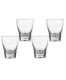 Qualia Glass Helix Platinum Double Old Fashioned Glasses, Set Of 4
