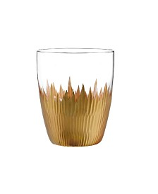 Qualia Glass Lava Double Old Fashioned Glasses, Set Of 4