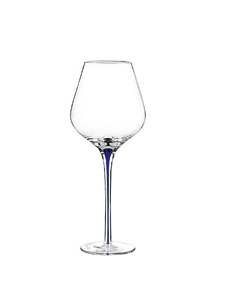 Qualia Glass Tempest Cobalt Goblets, Set Of 4