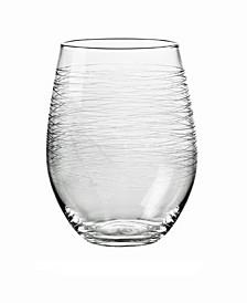 Graffiti Stemless Wine Glasses, Set Of 4