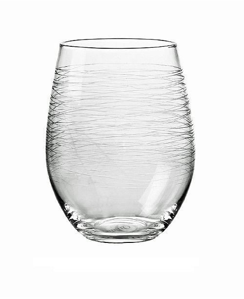 Qualia Glass Graffiti Stemless Wine Glasses, Set Of 4