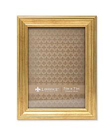"""Lawrence Frames Sutter Burnished Gold Picture Frame - 5"""" x 7"""""""