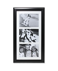 "Lawrence Frames Black Collage Frame - Three Opening Gallery Frame - 5"" x 7"""
