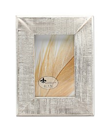 """Lawrence Frames Distressed Gray Wood with White Wash Picture Frame - 4"""" x 6"""""""