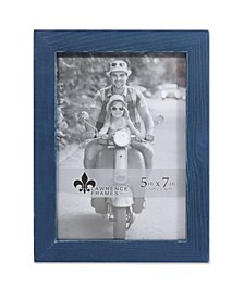 """Charlotte Weathered Navy Blue Wood Picture Frame - 5"""" x 7"""""""