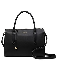 Radley London Small Zip-Top Convertible Leather Bag