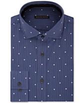 7c03493d Sean John Men's Classic/Regular Fit Blue Print Dress Shirt