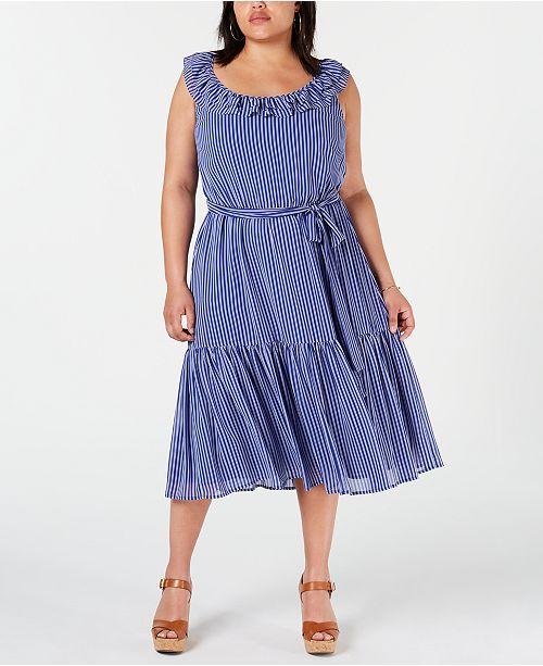 Michael Kors Plus Size Maxi Dress & Reviews - Dresses - Plus Sizes ...