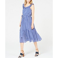 MICHAEL Michael Kors Striped Ruffled Dress, Regular & Petite