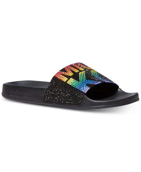 Michael Kors Women's Gilmore Pool Slide Sandals