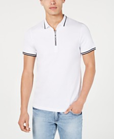 A|X Armani Exchange Men's Zipper Logo Polo