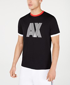 A|X Armani Exchange Men's Logo Ringer T-Shirt Created For Macy's