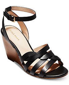 Cole Haan Myra Grand Braided Wedge Sandals