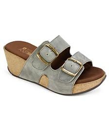 White Mountain Chandler Wedge Sandals