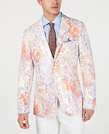Men's Slim-Fit Printed Sequin Sport Coat