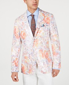 Tallia Men's Slim-Fit Printed Sequin Sport Coat