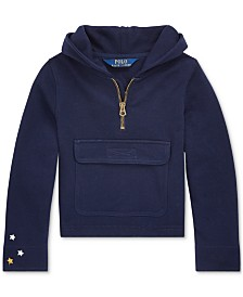 Polo Ralph Lauren Toddler Girls French Terry Half-Zip Hoodie