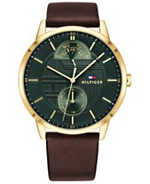 1c8b3feba700 Tommy Hilfiger Men s Brown Leather Strap Watch 44mm