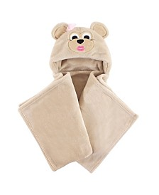 Hudson Baby Hooded Plush Blanket, One Size