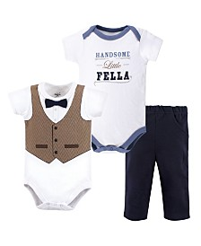 Little Treasure Bodysuit and Pants Set, 3 Piece Set, 0-24 months