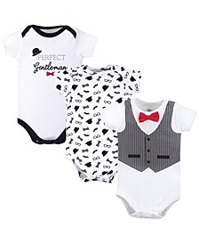 Cotton Bodysuits, 3 Pack