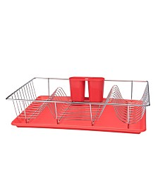 Kitchen Details 3 Piece Chrome Dishrack with Tray