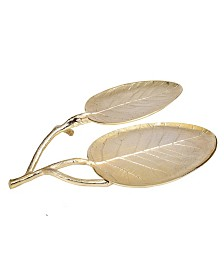 Classic Touch Leaf Shaped Relish Dish