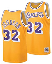 959cf39e9af Mitchell & Ness Big Boys Magic Johnson Los Angeles Lakers Hardwood Classic  Swingman Jersey
