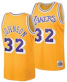 Mitchell & Ness Big Boys Magic Johnson Los Angeles Lakers Hardwood Classic Swingman Jersey