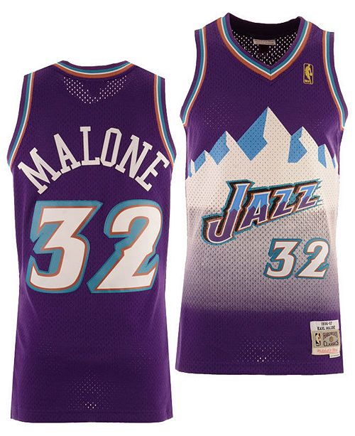 premium selection d1811 7e0d0 Big Boys Karl Malone Utah Jazz Hardwood Classic Swingman Jersey