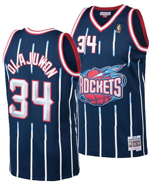 official photos a6c20 b1f9a Big Boys Hakeem Olajuwon Houston Rockets Hardwood Classic Swingman Jersey