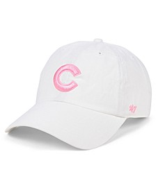 Chicago Cubs White Rose CLEAN UP Cap