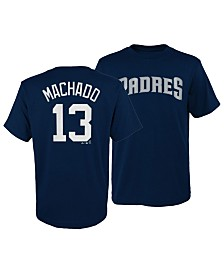 Majestic Big Boys Manny Machado San Diego Padres Official Player T-Shirt