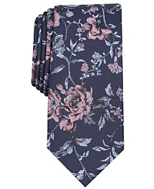 Bar III Men's Henderson Floral Skinny Tie, Created for Macy's