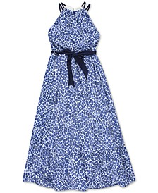 Little Girls Animal-Print Maxi Dress
