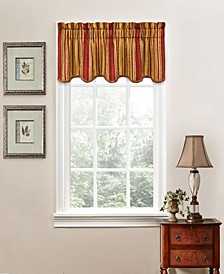 "Stripe Ensemble 52"" x 16"" Scallop Valance"