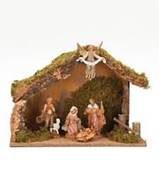 Roman Fontanini 5 Piece Nativity Set With Italian Stable