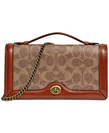 Riley Signature Chain Crossbody Clutch
