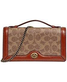 COACH Riley Signature Chain Crossbody Clutch