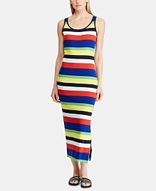 Lauren Ralph Lauren Striped Cotton Dress