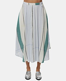Juniors' Stella Striped Midi Skirt